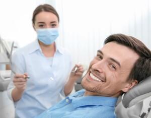 Handsome,Man,At,Dentist's,Office